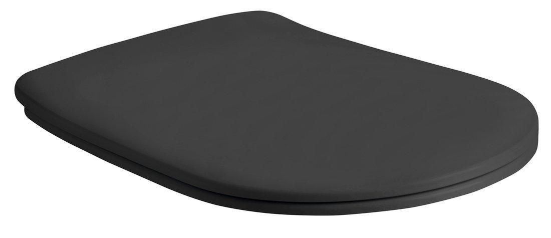 NOLITA WC sedátko SLIM Soft Close, duroplast, černá mat