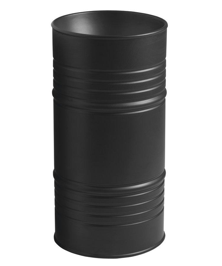 BARREL keramické umyvadlo na postavení ke stěně 42x90x42cm, bez přepadu, černá mat