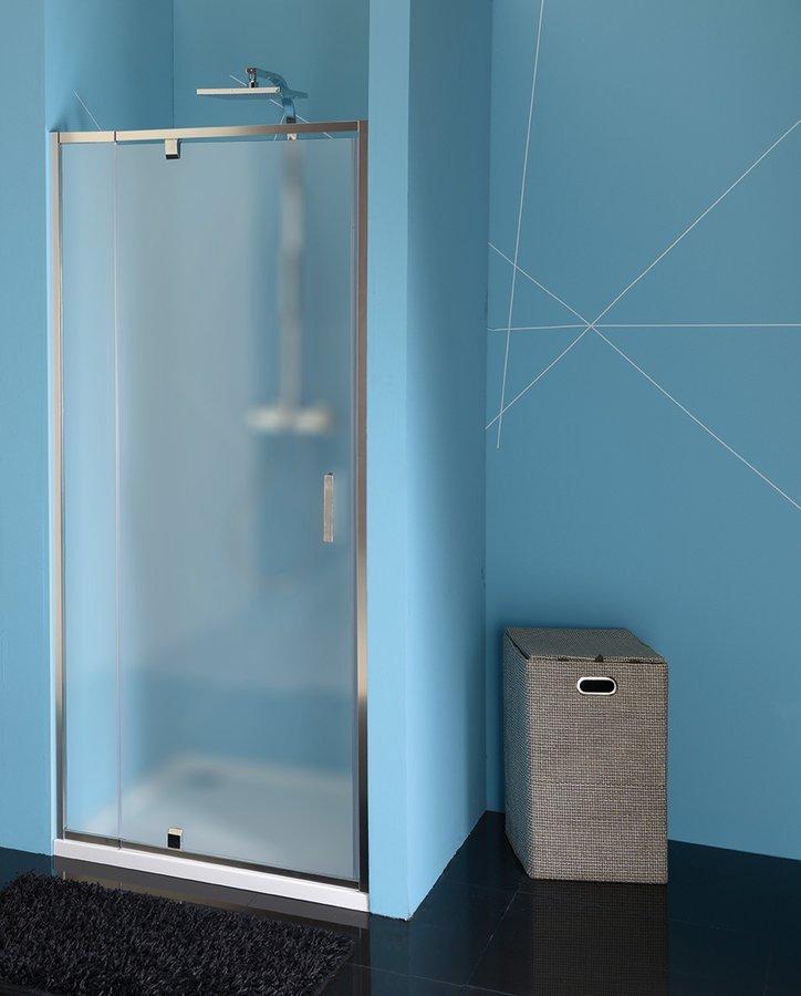 EASY LINE sprchové dveře otočné 880-1020mm, sklo BRICK