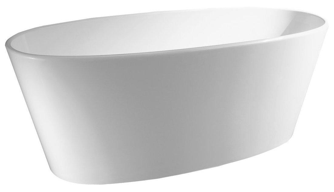 TESS volně stojící vana litý mramor 157x70x67cm, bílá