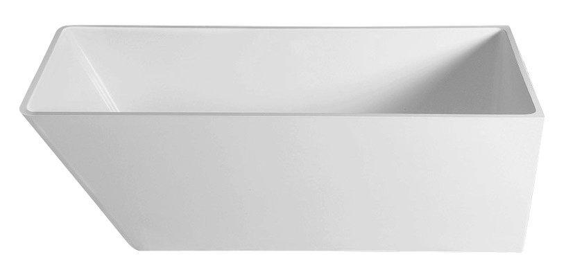 HERHIS volně stojící vana litý mramor 170x72x63cm, bílá