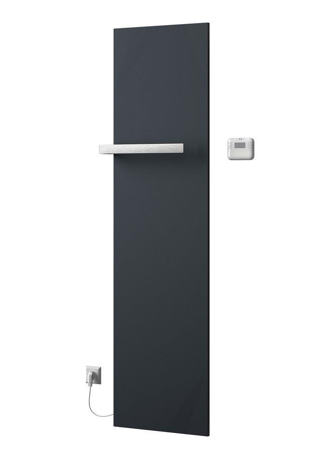 ELION elektrické otopné těleso včetně termostatu 456x1765 mm, 600 W, metalická antracit