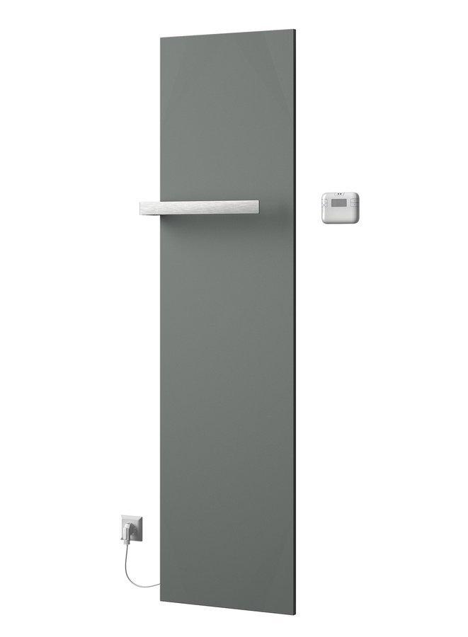 ELION elektrické otopné těleso včetně termostatu 456x1765 mm, 600 W, metalická stříbrná
