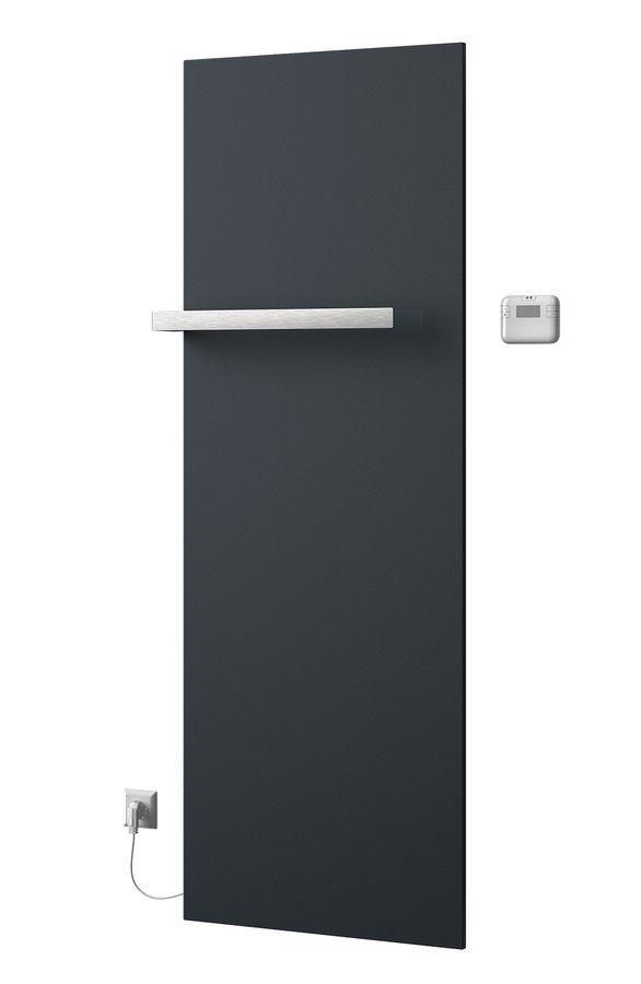 ELION elektrické otopné těleso včetně termostatu 606x1765 mm, 900 W, metalická antracit