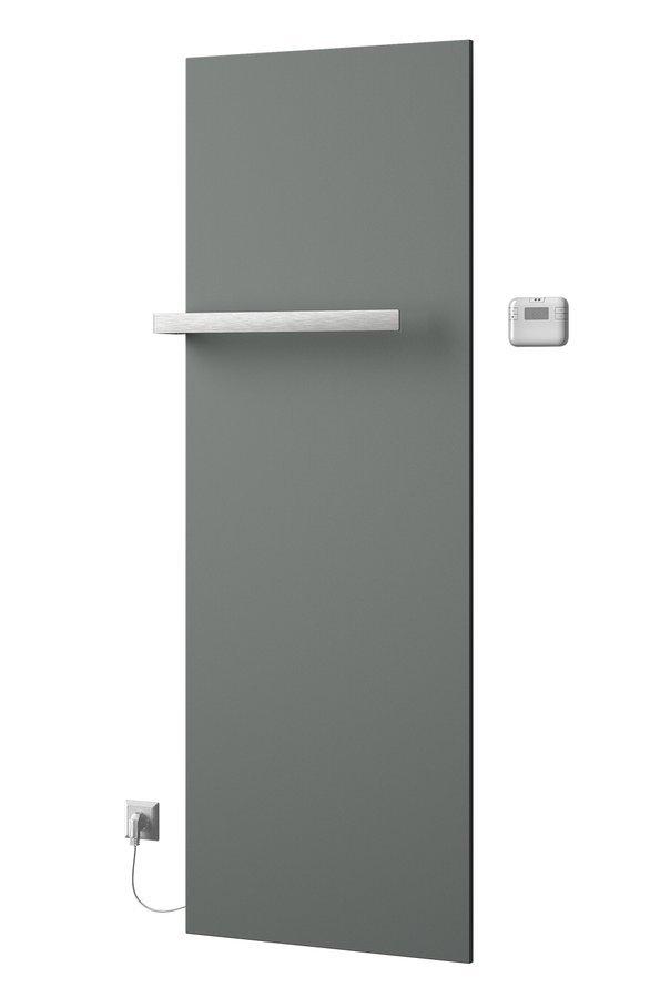 ELION elektrické otopné těleso včetně termostatu 606x1765 mm, 900 W, metalická stříbrná