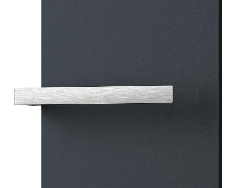 ELION držák ručníků pro těleso 456 mm, jednostranný, broušený nerez