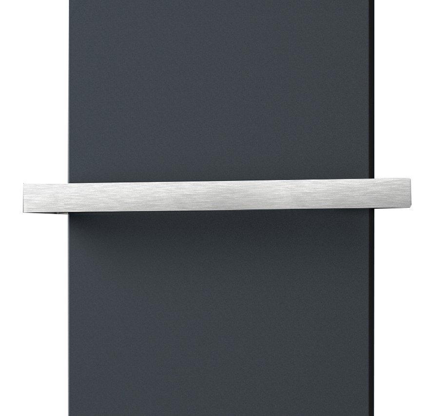 ELION držák ručníků pro těleso 456 mm, oboustranný, broušený nerez