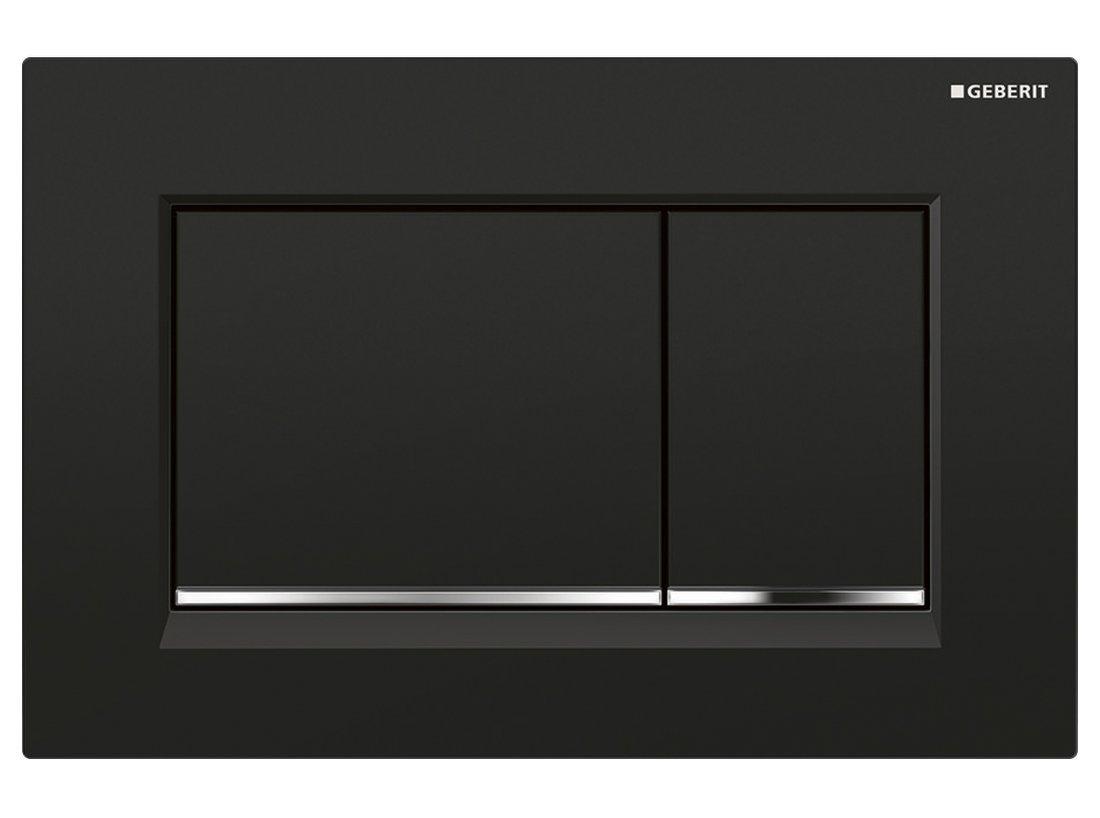 GEBERIT SIGMA30 ovládací tlačítko, 2 množství splachování, černá/chrom lesk/černá, plast