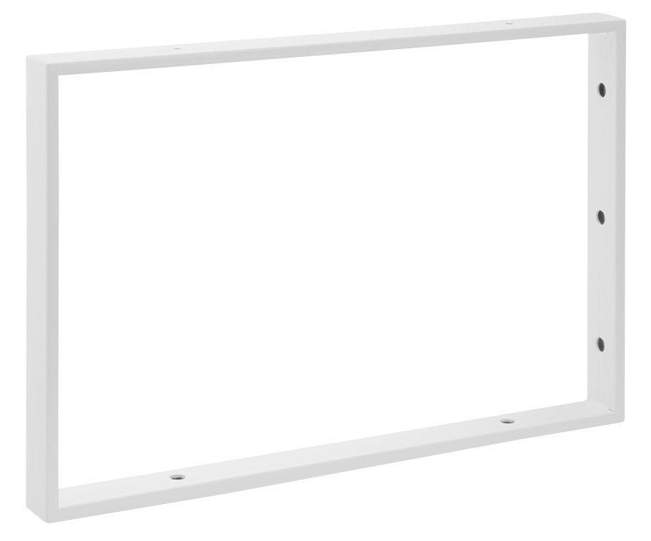 Podpěrná konzole 490x330x40mm, lakovaná ocel, bílá mat, 1 ks