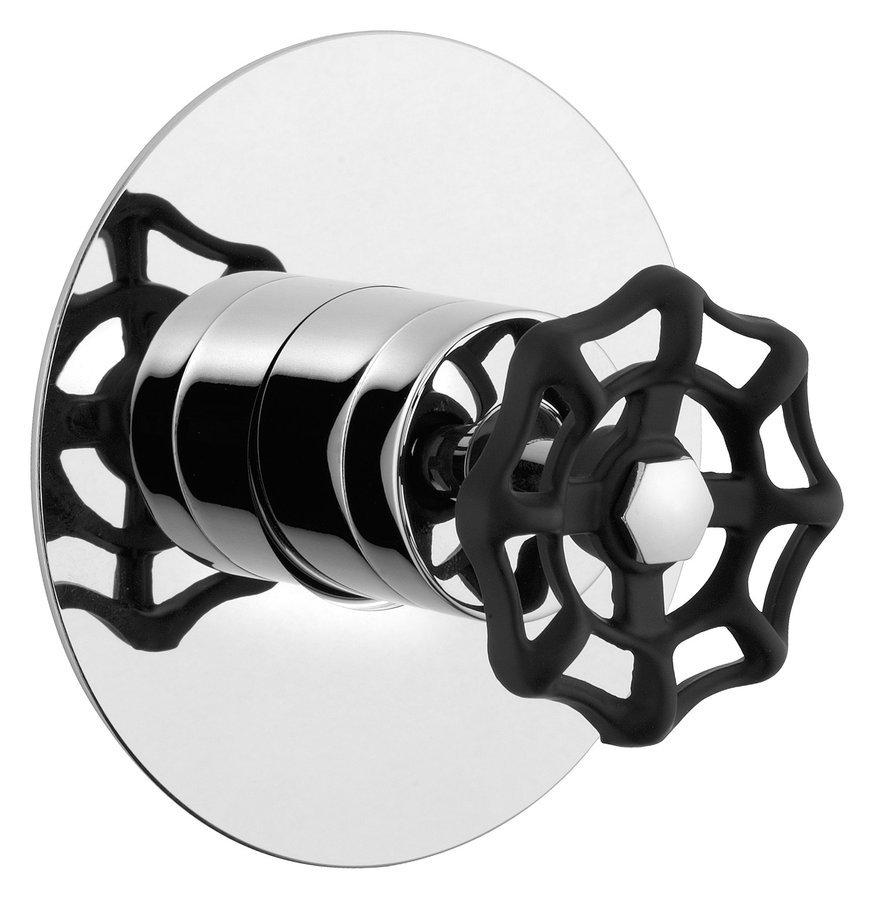 INDUSTRY podomítková sprchová baterie, 1 výstup, chrom/černá