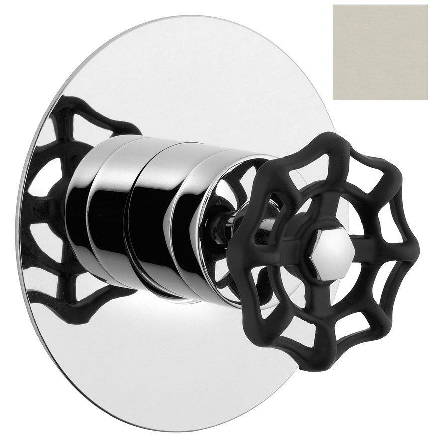 INDUSTRY podomítková sprchová baterie, 1 výstup, nikl/černá