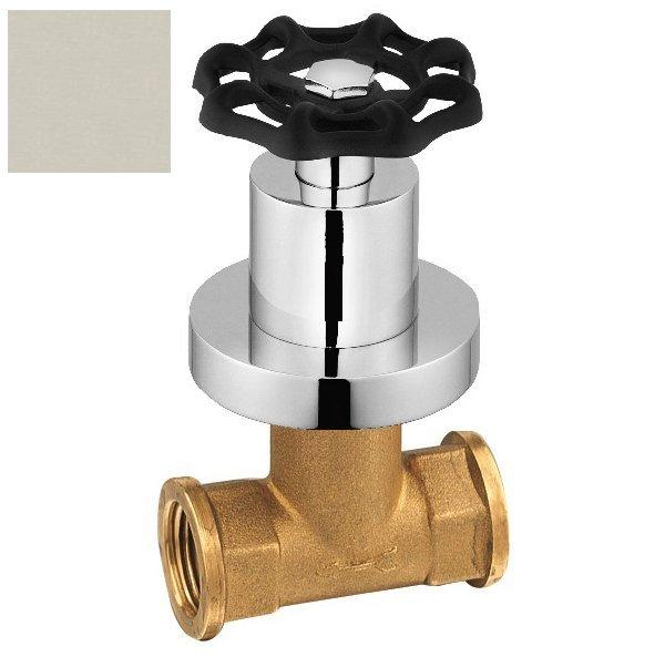 INDUSTRY podomítkový ventil, studená, nikl/černá