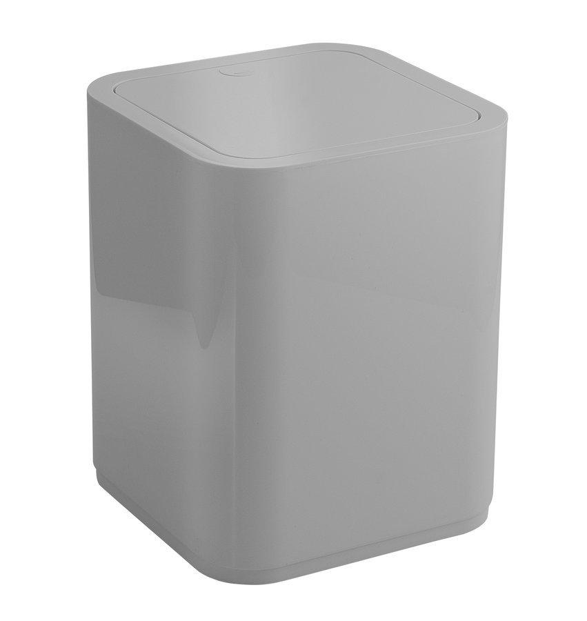 SEVENTY odpadkový koš výklopný, 8 l, plast ABS, šedá