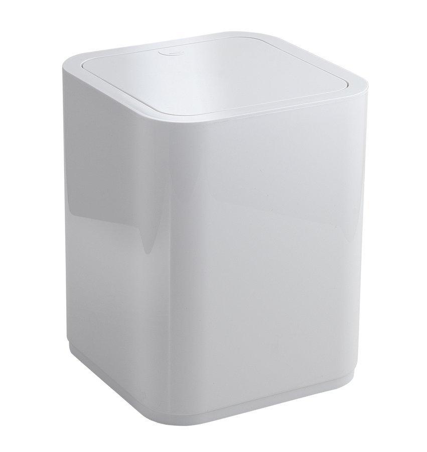 SEVENTY odpadkový koš výklopný, 8 l, plast ABS, bílá
