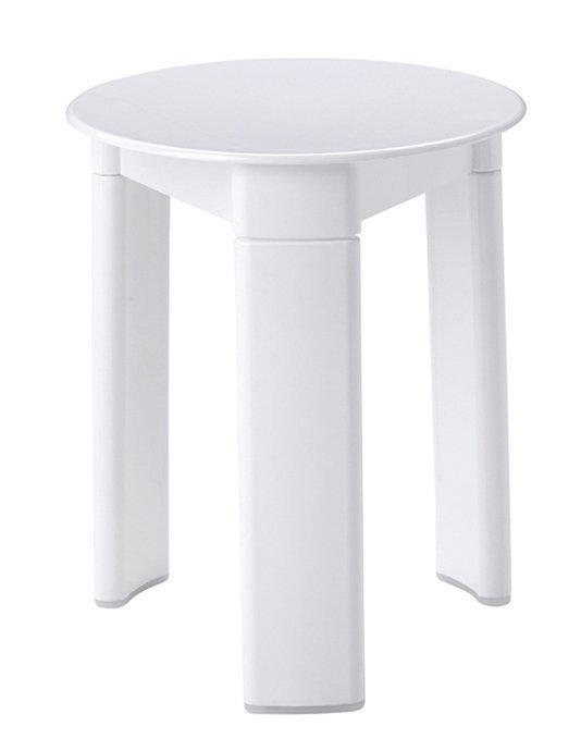 TRIO koupelnová stolička, průměr 33x40 cm, bílá
