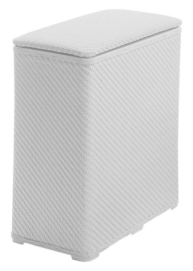 AMBROGIO koš na prádlo 50x55x28 cm, bílá