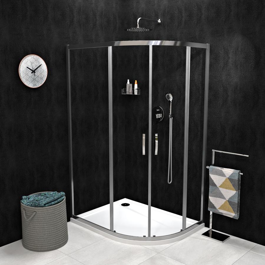 SIGMA SIMPLY čtvrtkruhová sprchová zástěna 1000x800 mm, R550, čiré sklo