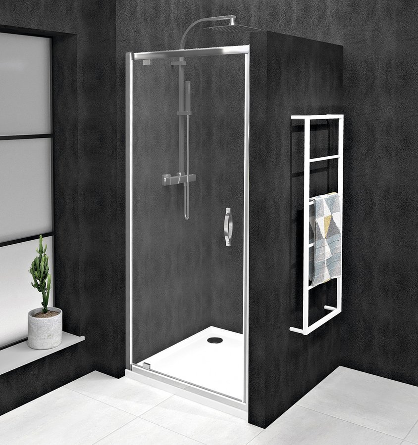 SIGMA SIMPLY sprchové dveře otočné 780-820 mm, čiré sklo