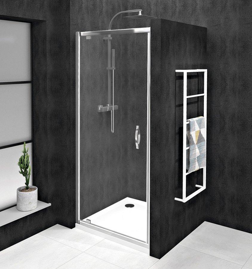SIGMA SIMPLY sprchové dveře otočné 880-920 mm, čiré sklo