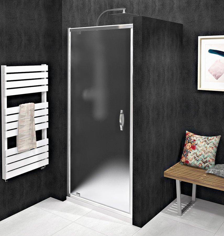 SIGMA SIMPLY sprchové dveře otočné, 780-820 mm, sklo Brick