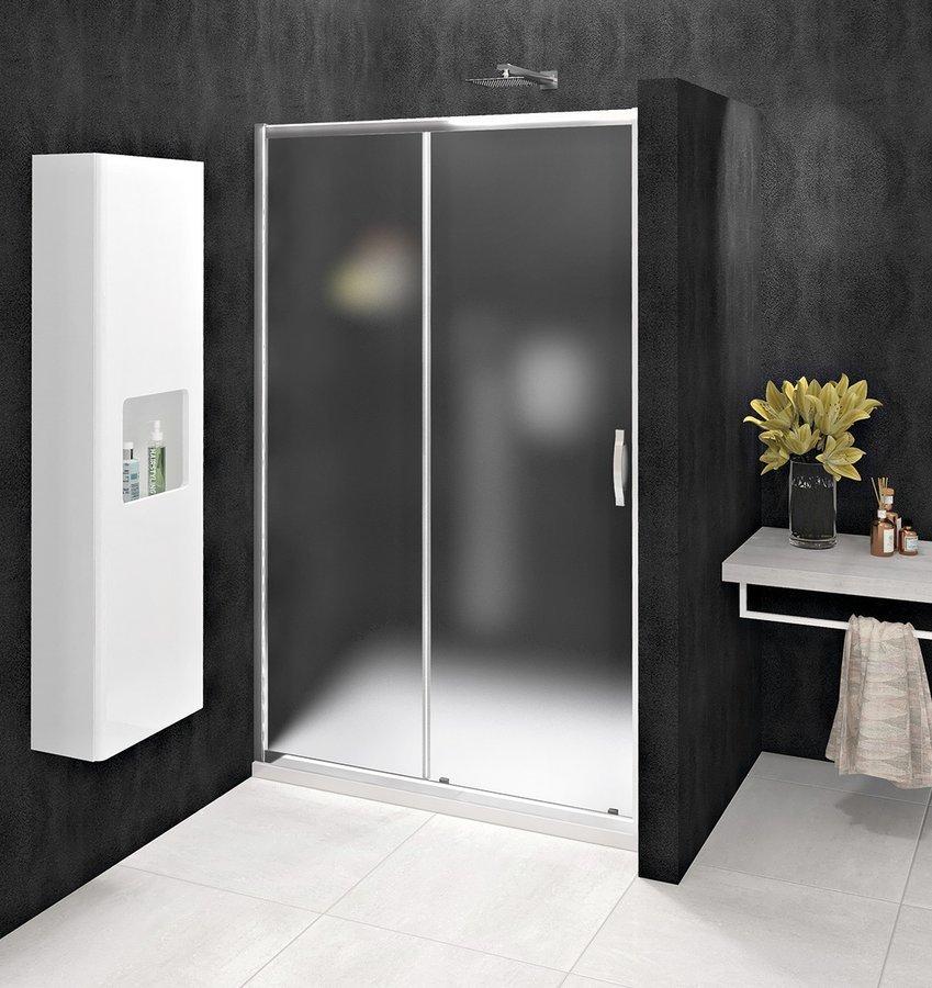 SIGMA SIMPLY sprchové dveře posuvné 1000 mm, sklo Brick