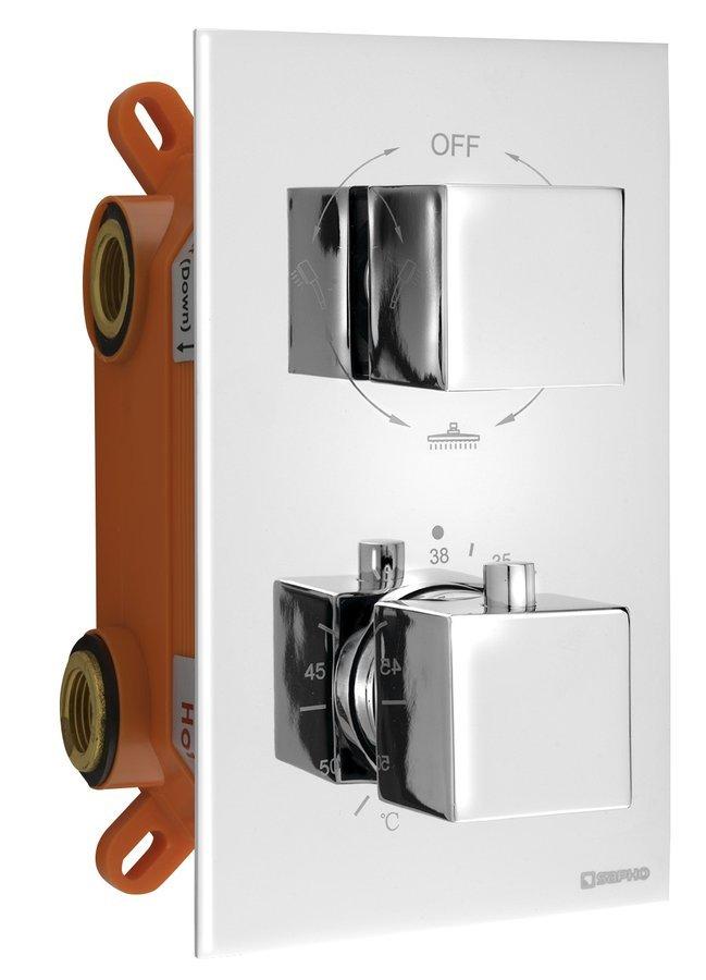 LATUS podomítková sprchová termostatická baterie, box, 3 výstupy, chrom