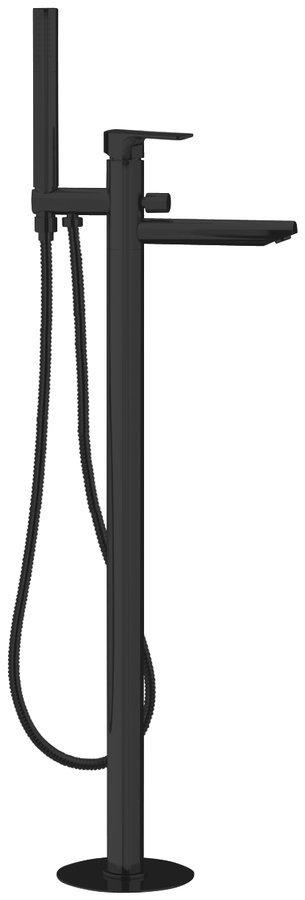 SPY vanová baterie s připojením do podlahy, černá mat