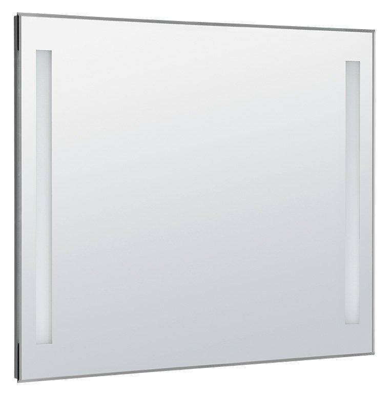 LED podsvícené zrcadlo 100x80cm, kolíbkový vypínač
