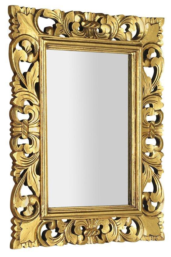 SAMBLUNG zrcadlo v rámu, 60x80cm, zlatá