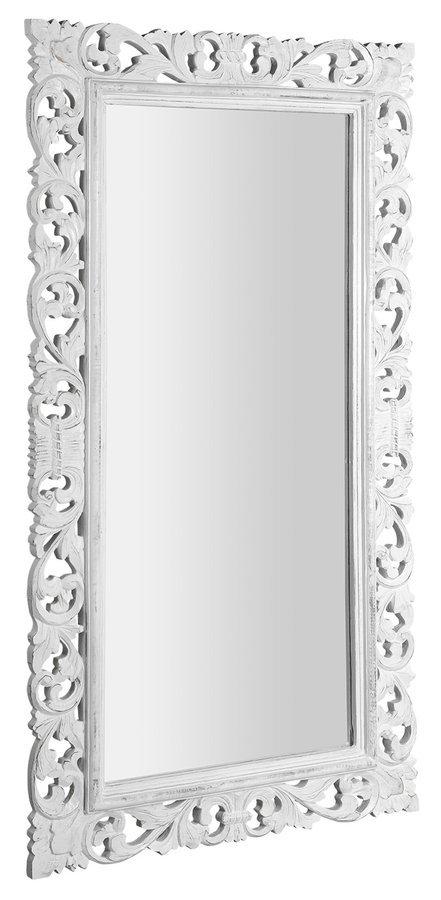 SCULE zrcadlo v rámu, 80x150cm, bílá