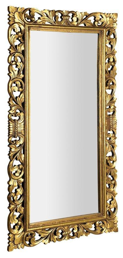 SCULE zrcadlo v rámu, 80x150cm, zlatá