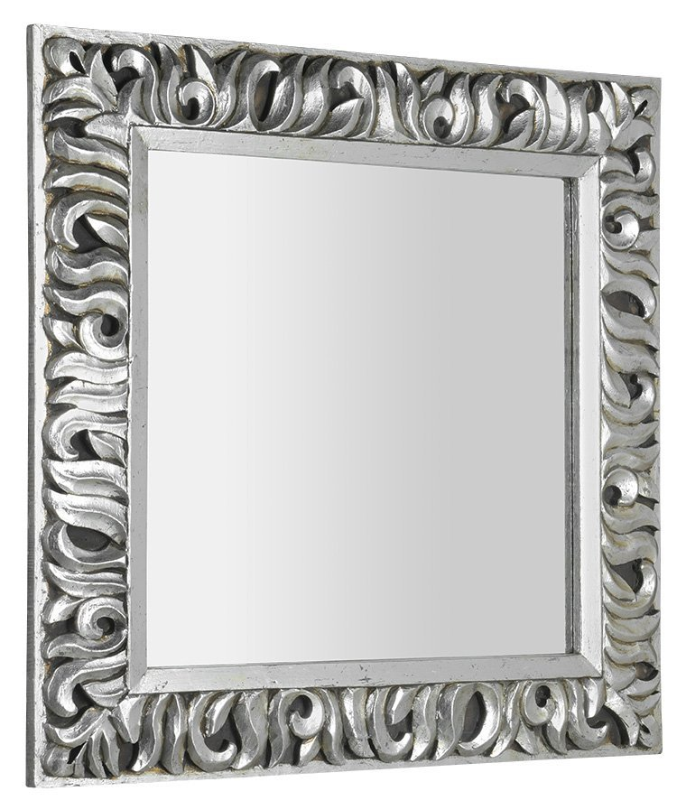 ZEEGRAS zrcadlo v rámu, 90x90cm, stříbrná