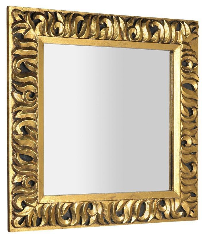 ZEEGRAS zrcadlo v rámu, 90x90cm, zlatá
