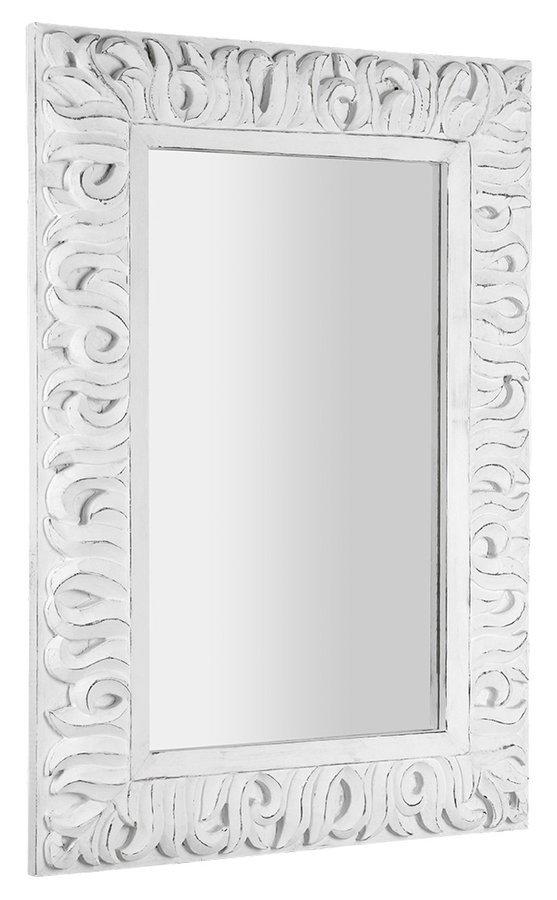 ZEEGRAS zrcadlo v rámu, 70x100cm, bílá