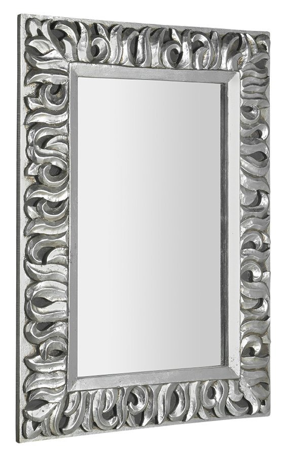 ZEEGRAS zrcadlo v rámu, 70x100cm, stříbrná