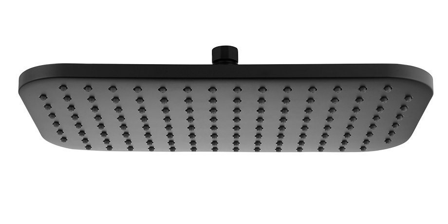 Hlavová sprcha, 200x350mm, ABS/černá