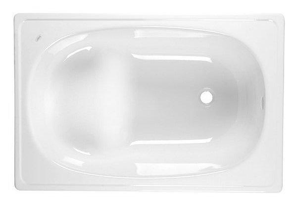 Sedací smaltovaná vana 105x70cm, bílá