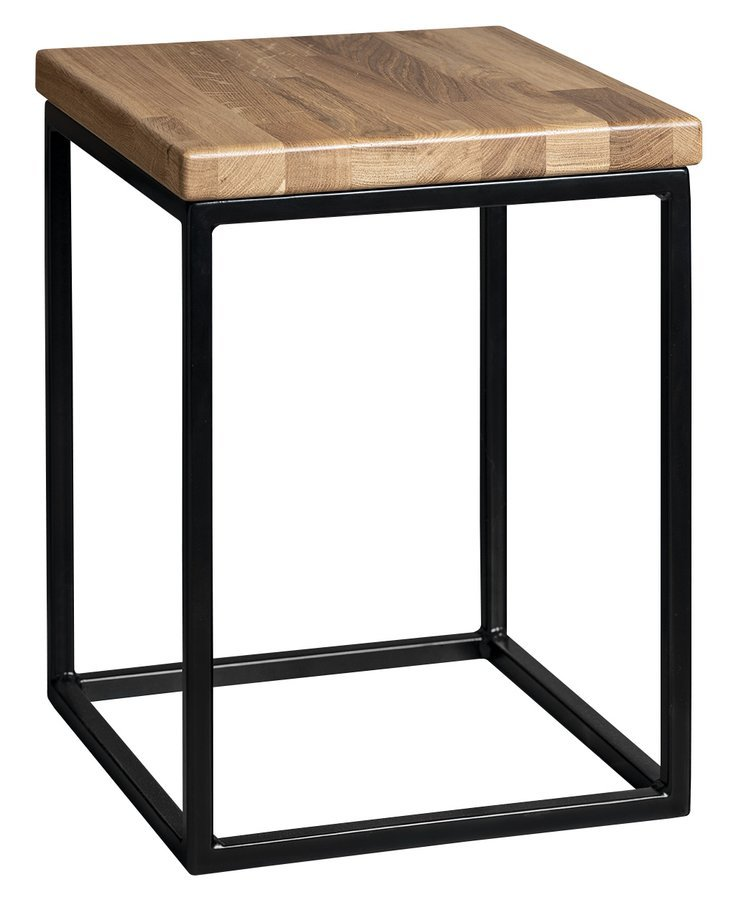SKA stolička 300x410x300mm (SKA401), černá mat/dub