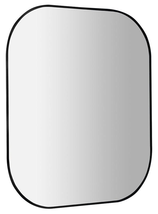 SHARON LED podsvícené zrcadlo 80x70cm, černá mat