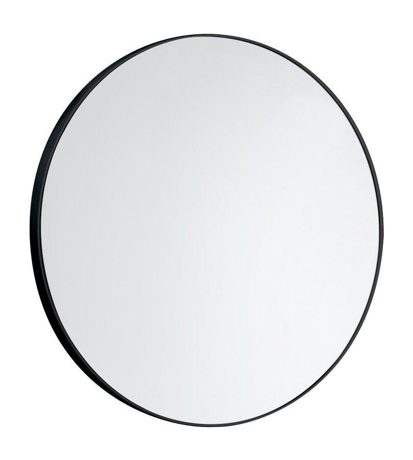 Zrcadlo kulaté průměr 60cm, plast ABS, černá matná
