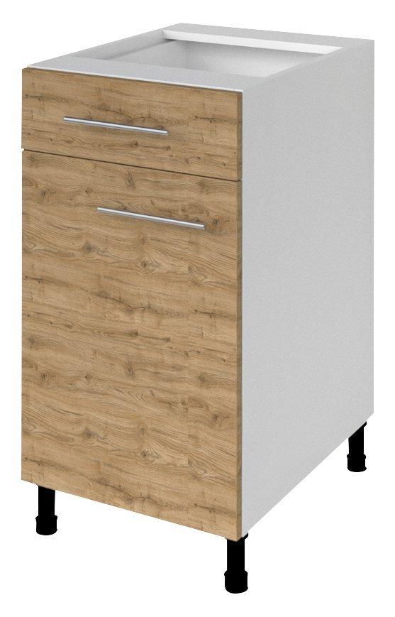 TERNO spodní skříňka, zásuvka, dvířka, 40x72x52 cm, dub emporio