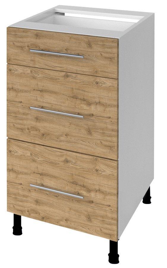 TERNO spodní skříňka se zásuvkami, 40x72x52 cm, dub emporio