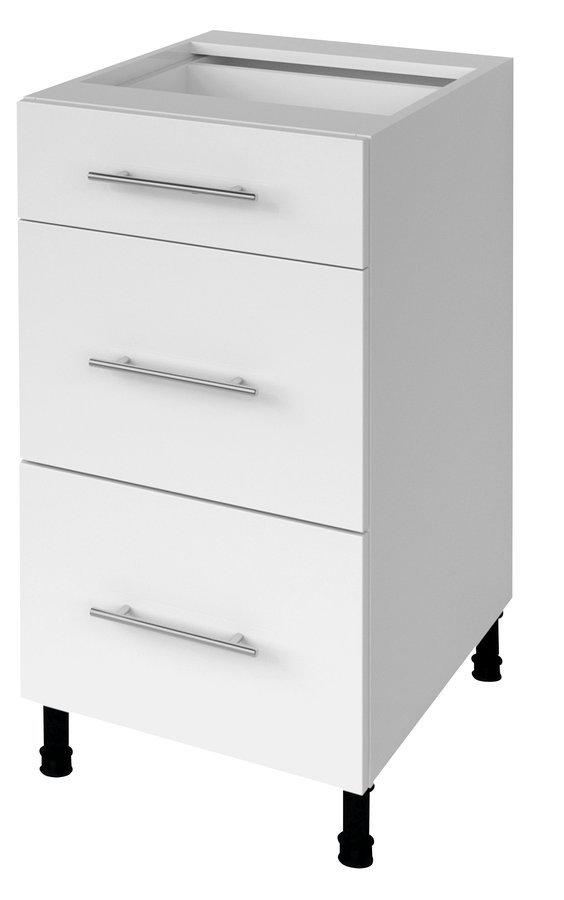 TERNO spodní skříňka se zásuvkami, 40x72x52 cm, bílá lesk