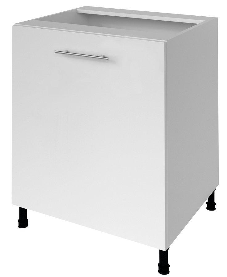 TERNO spodní skříňka s dvířky, 60x72x52 cm, bílá lesk
