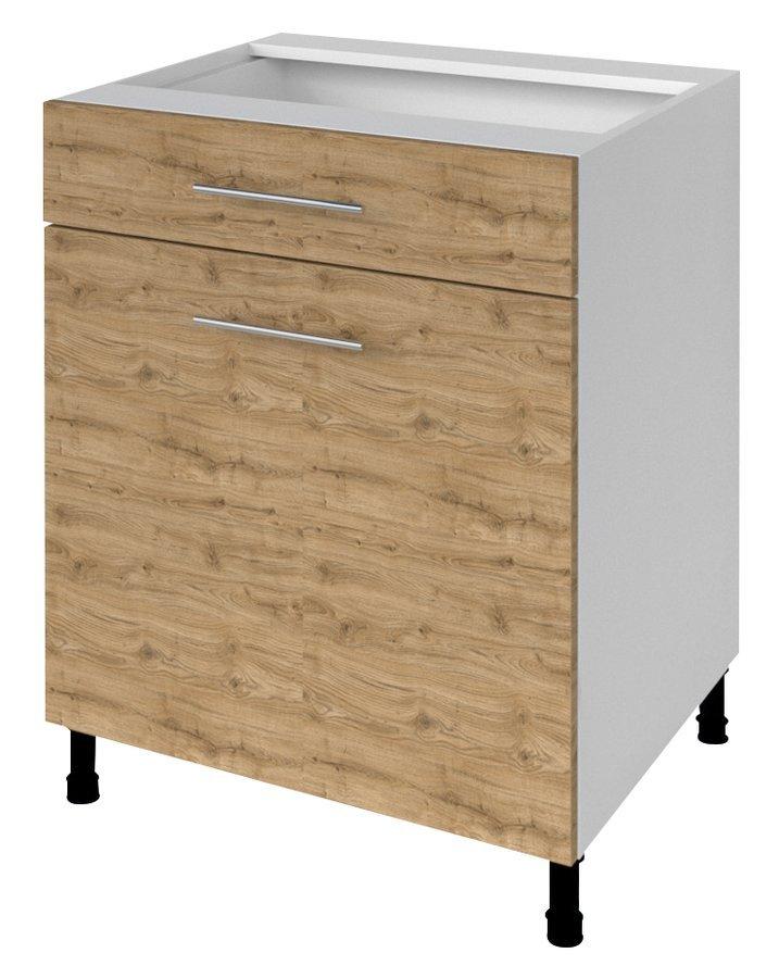 TERNO spodní skříňka, zásuvka, dvířka, 60x72x52 cm, dub emporio
