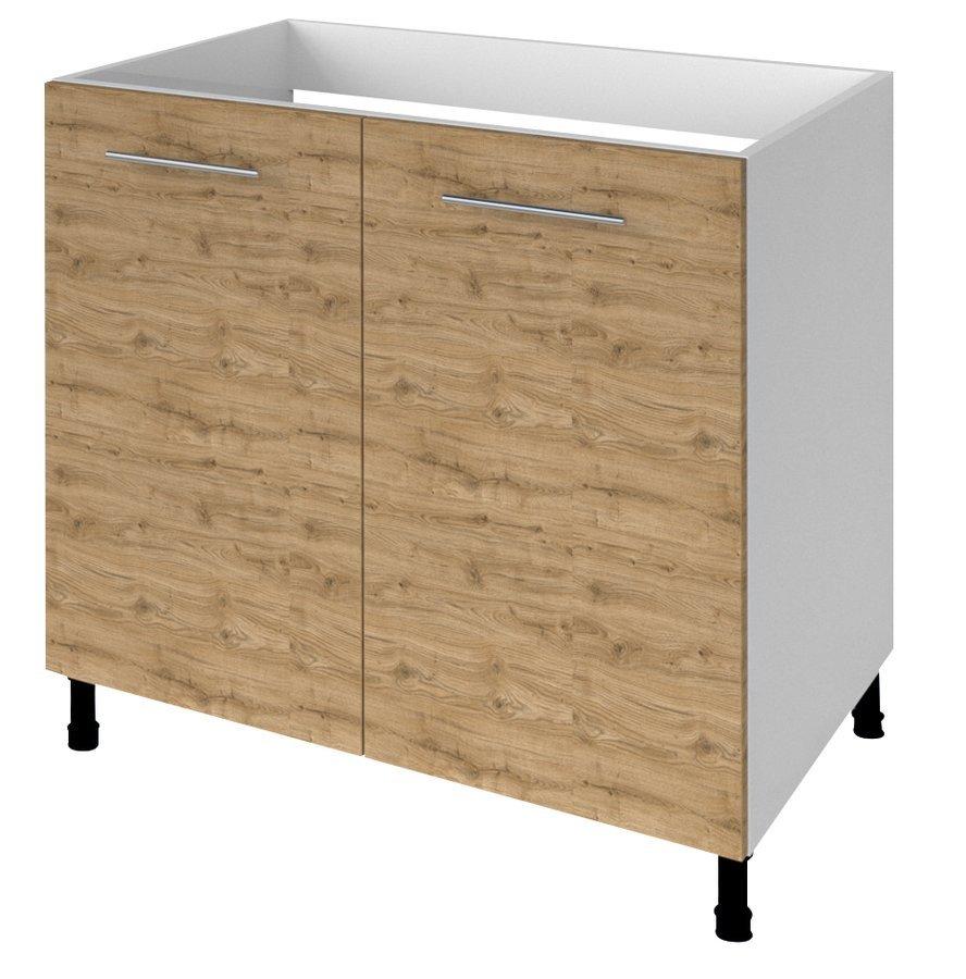TERNO spodní skříňka pod dřez s 2 dvířky, 80x72x52 cm, dub emporio