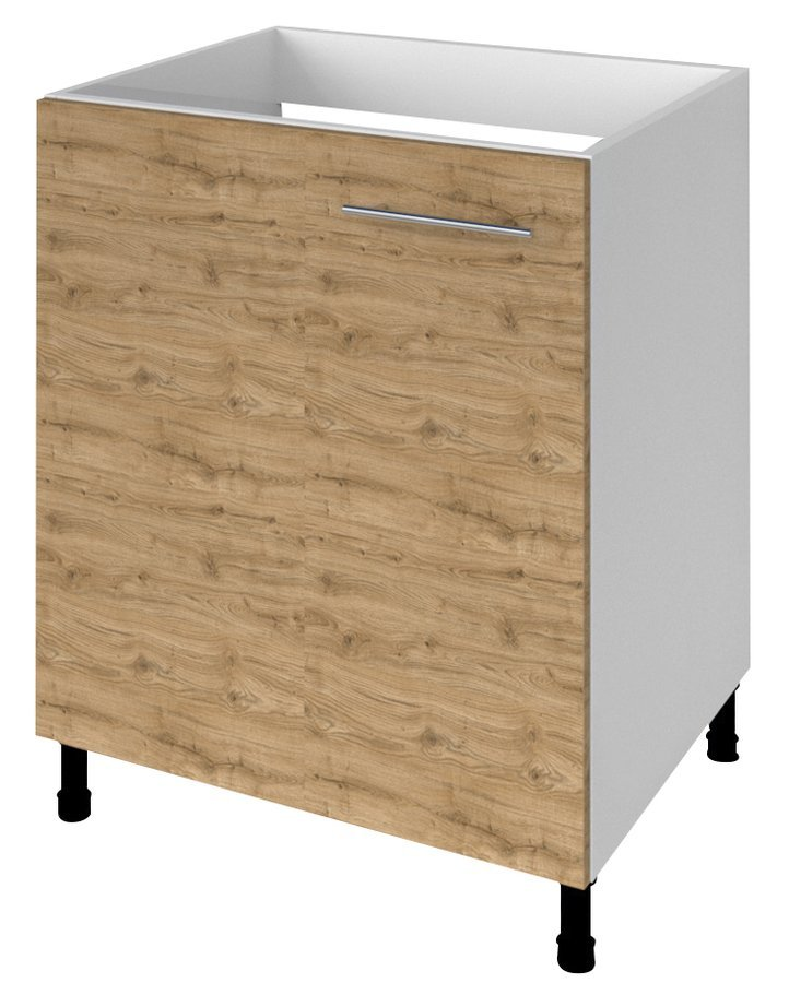 TERNO spodní skříňka pod dřez s dvířky, 60x72x52 cm, dub emporio