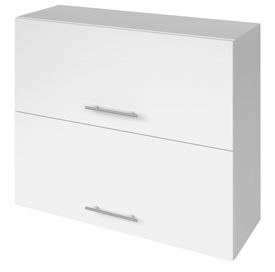 TERNO skříňka horní 80x72x30 cm, bílá lesk