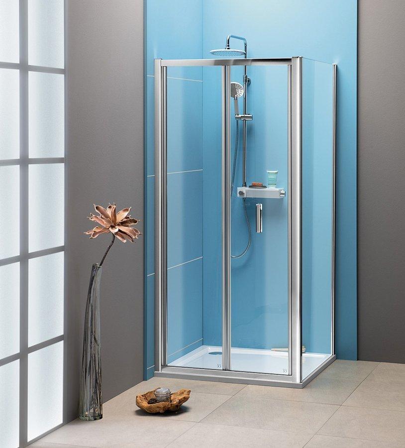 EASY LINE čtvercový sprchový kout 1000x1000mm, skládací dveře, L/P varianta, čiré sklo
