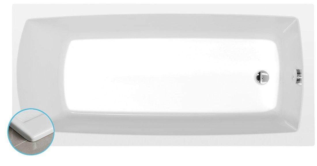 LILY SLIM obdélníková vana 140x70x39cm, bílá